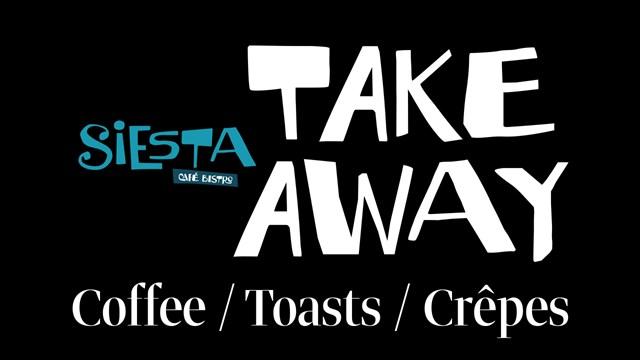 Το SIESTA CAFE - BISTRO ξανά κοντά σας με Take away