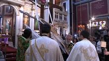 Η αποκαθήλωση του Εσταυρωμένου στον Ι.Ν. Aγίου Νικολάου Ερμούπολης