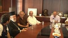 Συνάντηση κ.κ. Δωρόθεου Β' με τη διοίκηση και τους εργαζόμενους του Νεωρίου