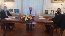 Κοινή συνέντευξη Τύπου για τα αποτελέσματα της τηλεδιάσκεψης με την Υπουργό Πολιτισμού, Λίνα Μενδώνη