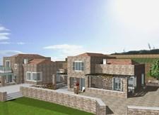 Πωλείται οικόπεδο με άδεια οικοδομής για δύο πετρόκιστες κατοικίες στην περιοχή πάνω από το Πολυχώρο PLAZA