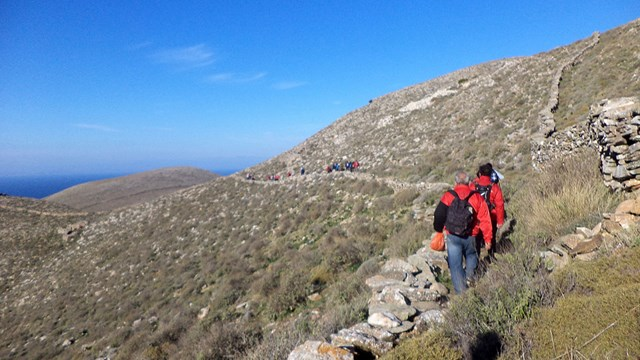 Πρόγραμμα περιπατητικών διαδρομών της Ομάδας Πεζοπόρων Σύρου Μαρτίου