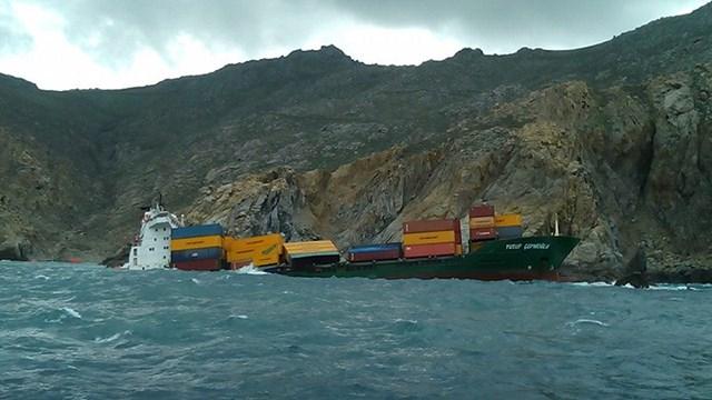 Προσάραξη φορτηγού πλοίου Τουρκικής σημαίας στη Μύκονο