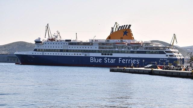 Το  Blue Star Patmos στη γραμμή Πειραιάς, Σύρος, Πάρος, Νάξος, Ίος, Σαντορίνη