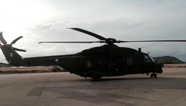 Η πρώτη αεροδιακομιδή από την μόνιμη βάση του ΕΚΑΒ στη Σύρο