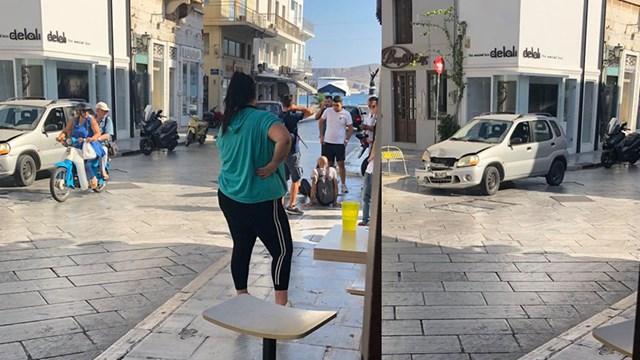 Τροχαίο σημειώθηκε στο κέντρο της Ερμούπολης