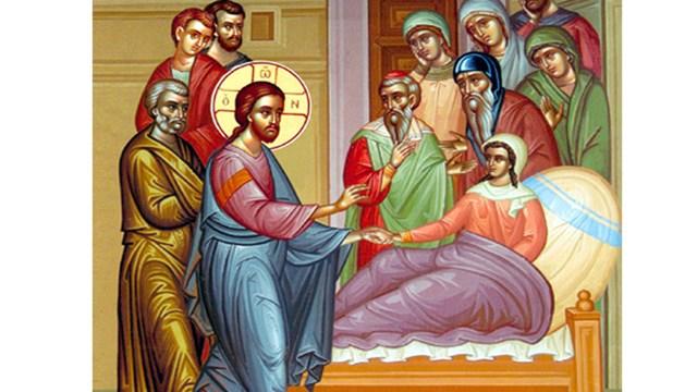 Η ανάσταση της θυγατέρας του Ιαείρου και η θεραπεία της αιμορροούσης γυναικός (Λουκ. 8,41-56)