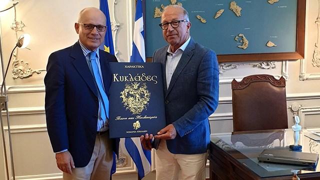 Συνάντηση Λεονταρίτη με τον Πρέσβη της Ιταλίας στην Ελλάδα κ. Luigi Marras