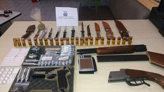 Σύλληψη 60χρονου για κατοχή ναρκωτικών ουσιών, καλλιέργεια κάνναβης, παράνομη οπλοκατοχή