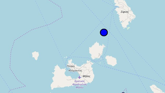 Σεισμός 4,2 Ρίχτερ μεταξύ Σίφνου και Κιμώλου