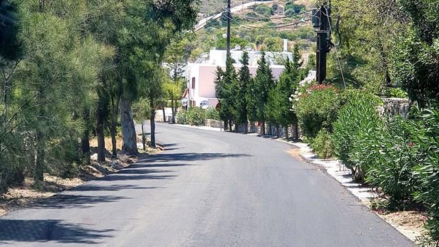 Ολοκληρώθηκαν τα έργα οδοποιίας στη Σύρο
