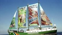Στη Σύρο, το πλοίο της Greenpeace, Rainbow Warrior