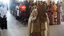 Θεία Λειτουργία στον Ιερό Καθεδρικό Ναό του Pointe-Noire