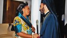 Συνάντηση του  κ.Παντελεήμων με την  πρώτη Κυρία του Κονγκό