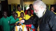 Ο Πατριάρχης Αλεξανδρείας κοντά στα παιδιά του Ντολιζί