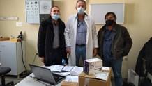 Παράδοση rapid test σε νοσοκομείο και Κέντρο Υγείας Ερμούπολης