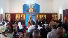 Η εορτή στον  Ιερό Ενοριακό Ναό Αγίας Ειρήνης πόλεως Dolisie