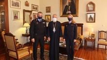 Ο νέος Περιφερειακός Διευθυντής των Υπηρεσιών Ν. Αιγαίου Αρχιπύραρχος κ. Παν. Κουτρίδης επεσκέφθη τον Σεβασμιώτατο κ. Δωρόθεο Β΄