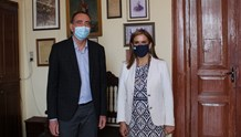 Συνάντηση Νίκου Λειβαδάρα με την Υφυπουργό Υγείας, Ζωή Ράπτη