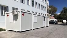 Σύρος: Δωρεά ενός isobox οικίσκου αρνητικής πίεσης 4 κλινών στο νοσοκομείο