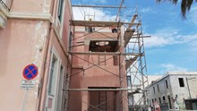 Εργασίες καθαίρεσης του πύργου ασκήσεων της Πυροσβεστικής