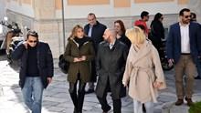Η Βουλευτής Β΄ Αθηνών της ΝΔ, Άννα Καραμανλή, στη Σύρο