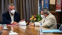 Συνάντηση Γιώργου Χατζημάρκου με Υπουργό Οικονομικών