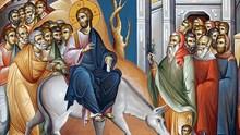 Ο Ιησούς εισέρχεται μεσσιανικά στα Ιεροσόλυμα και διώχνει τους εμπόρους από τον Ναό