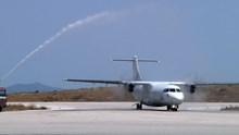 1η πτήση της Astra Airlines από Θεσ/νίκη