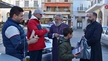 Ο Μητροπολίτης Σύρου κοντά στους επιχειρηματίες της Ερμούπολης