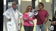 Συγκέντρωση διαμαρτυρίας στο Γ.Ν. Σύρου
